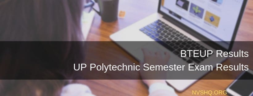 BTEUP Results UP Polytechnic Semester Exam Results