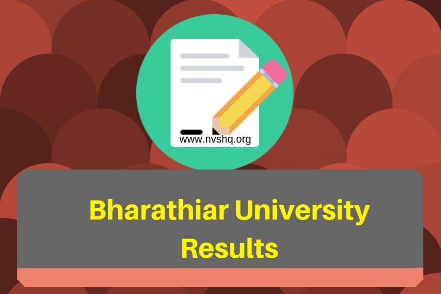 Bharathiar University Result