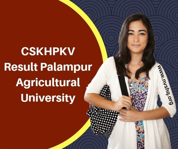 CSKHPKV Result Palampur Agricultural University