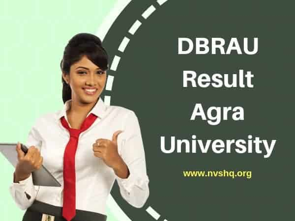 DBRAU Result Agra University Exams