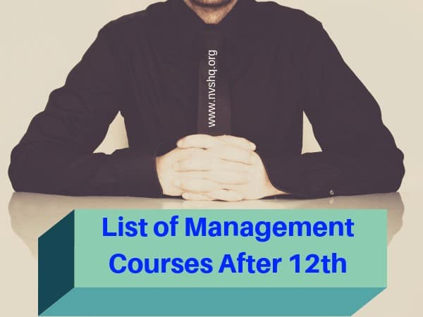 List of Management Courses After 12th