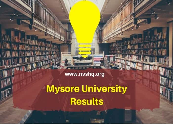 Mysore University Result