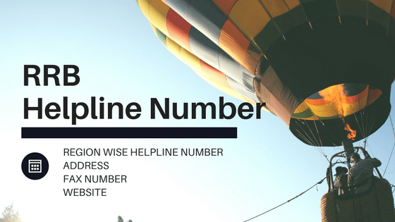 RRB recruitments helpline number