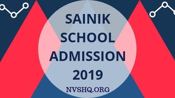 Sainik School Admission 2019