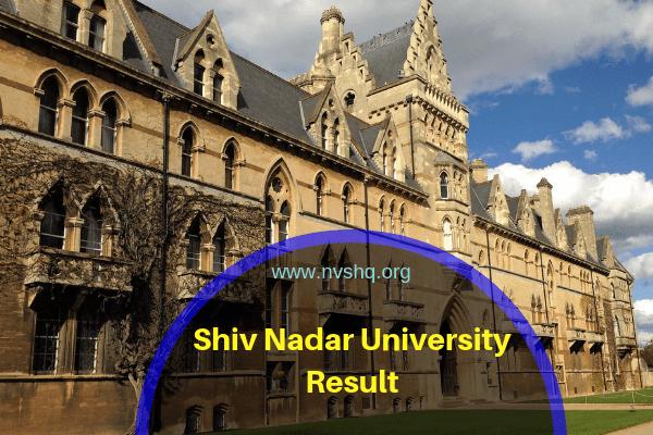 Shiv Nadar University Result