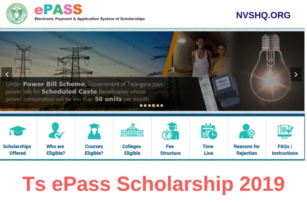 Ts ePass Scholarship 2019