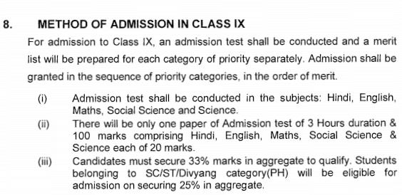 class 9 KV admission process (2)