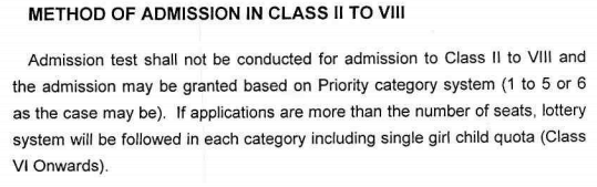 kvs admission class 2 to 8