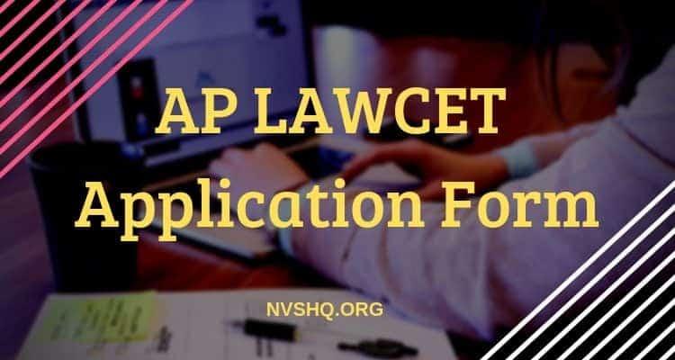 AP LAWCET Application form