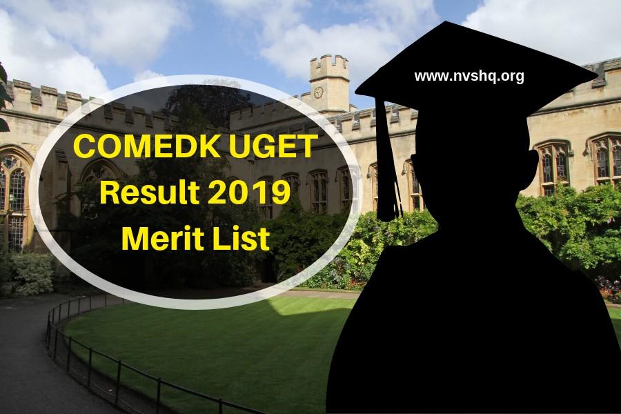 COMEDK UGET Result 2019 Merit List