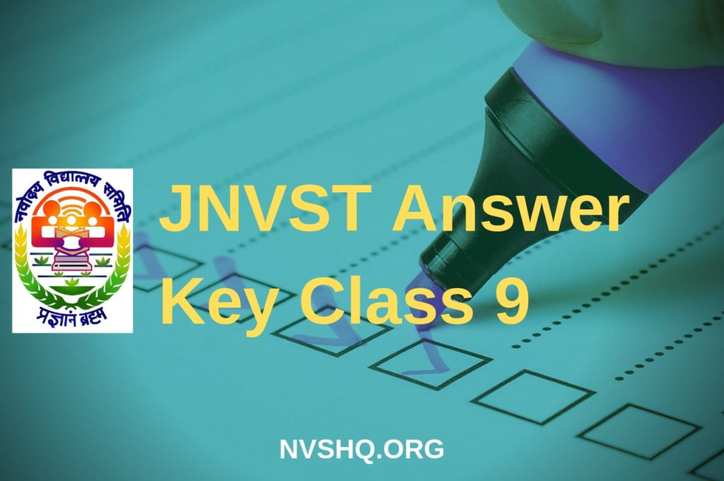 JNVST answer key 2019 class 9