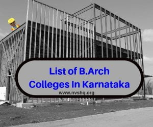 List-of-B.Arch-Colleges-In-Karnataka