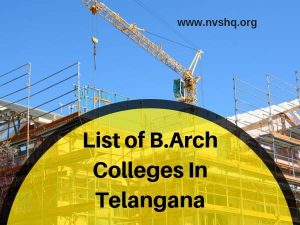 List-of-B.Arch-Colleges-In-Telangana
