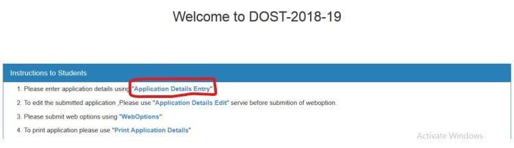 Telangana-DOST-application-form-2020
