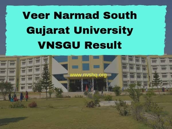 Veer Narmad South Gujarat University VNSGU Result
