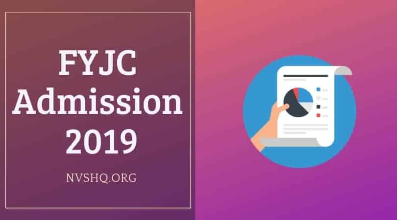 FYJC Admission 2019