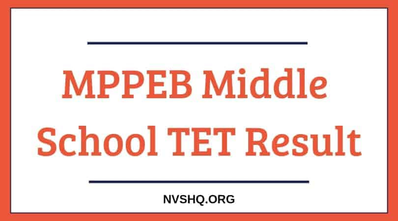 MPPEB Middle School TET Result