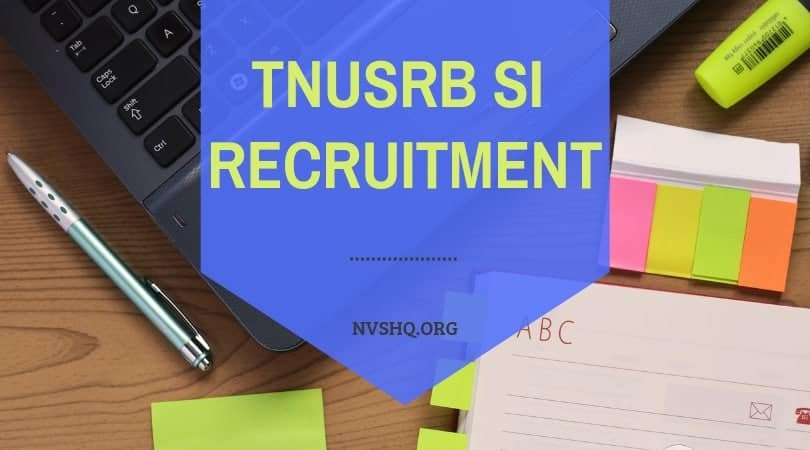 TNUSRB SI Recruitment