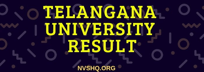 Telangana University TU Degree Result 2019 2nd,4th,6th
