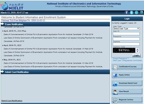 NIELIT CCC Student portal