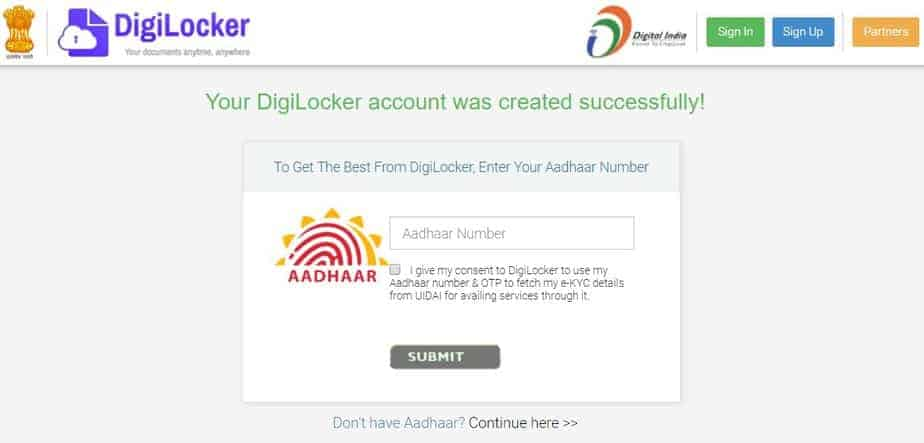 digilocker account