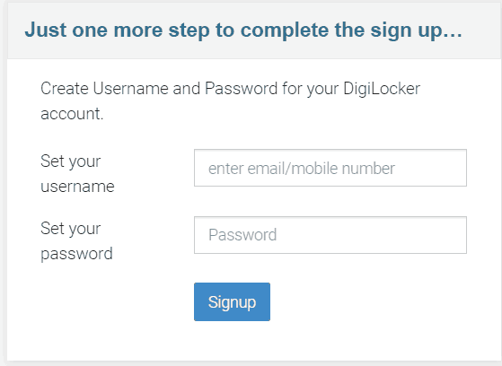 digilocker signup