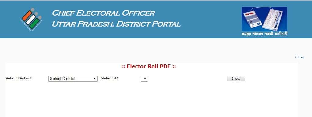UP voter list online