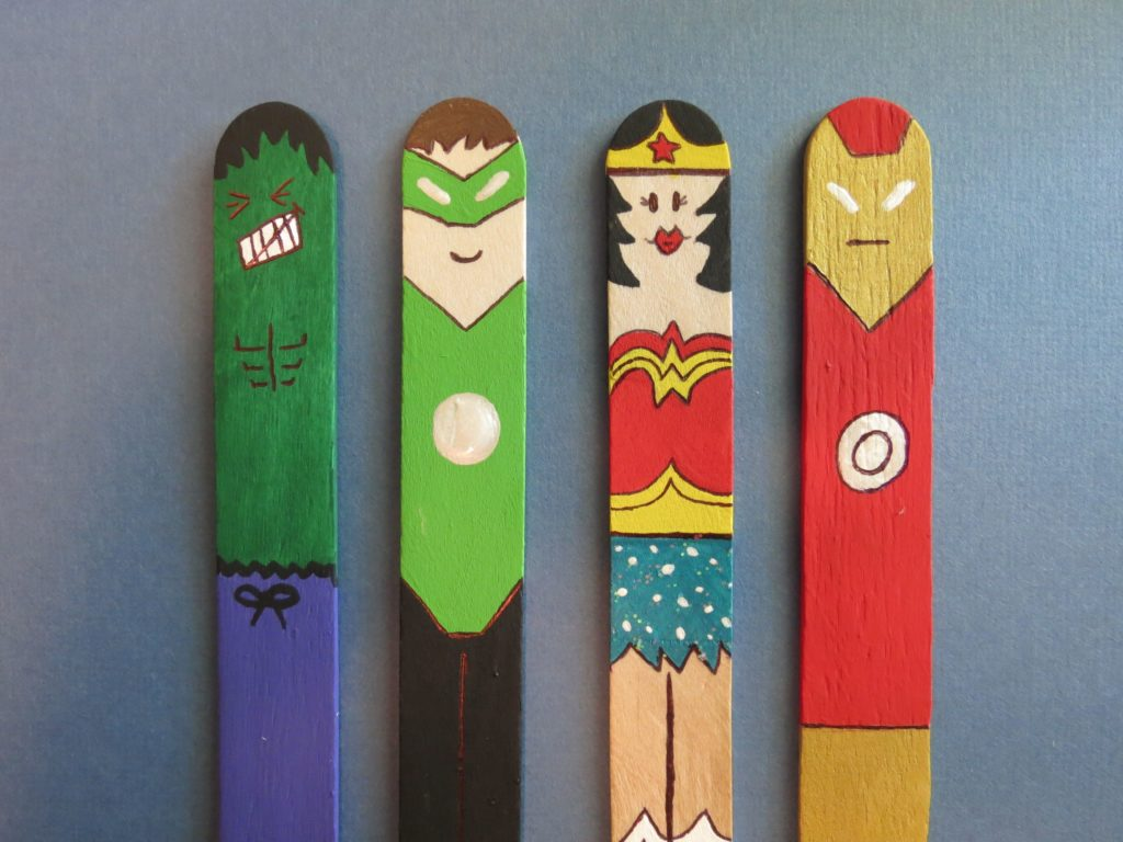 waste sticks bookmark superheroes