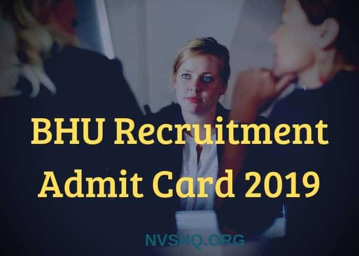 BHU Admit Card 2019