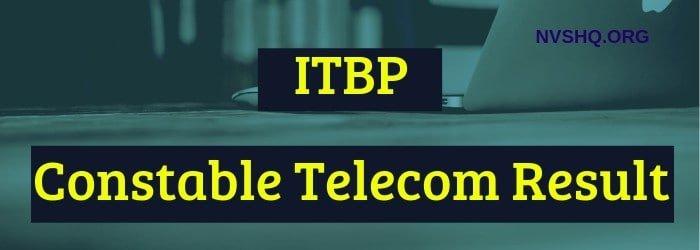 ITBP Constable Telecom Result 2019: ITBP CT Merit List/Cut