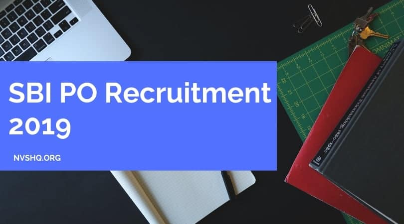 SBI PO Recruitment 2019