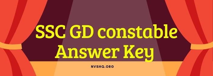 SSC GD constable answer key 2019
