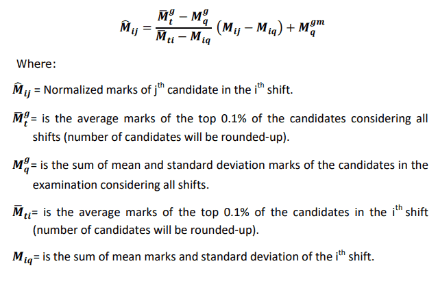 SSC GD constable normalization of marks
