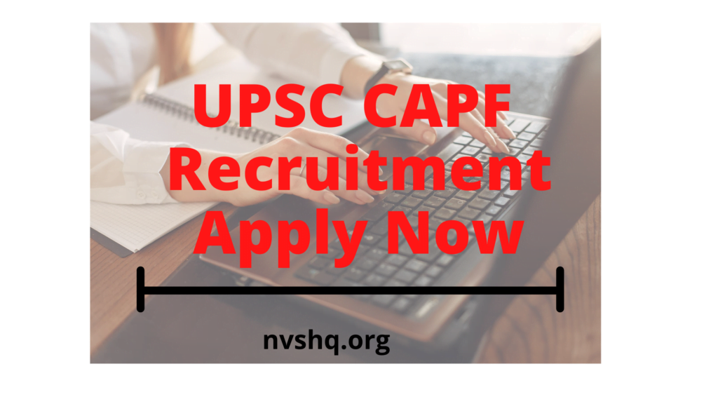upsc-capf-2020-recruitment