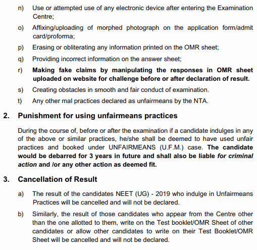 neet dress code exam rules