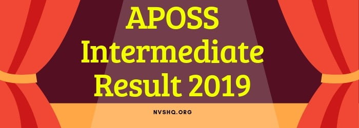 APOSS Intermediate Result 2019【Declared】AP Open School Class 12th