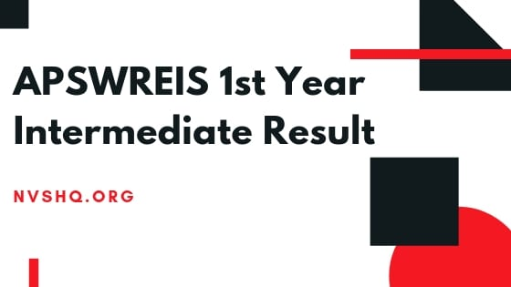 APSWREIS 1st Year Intermediate Result