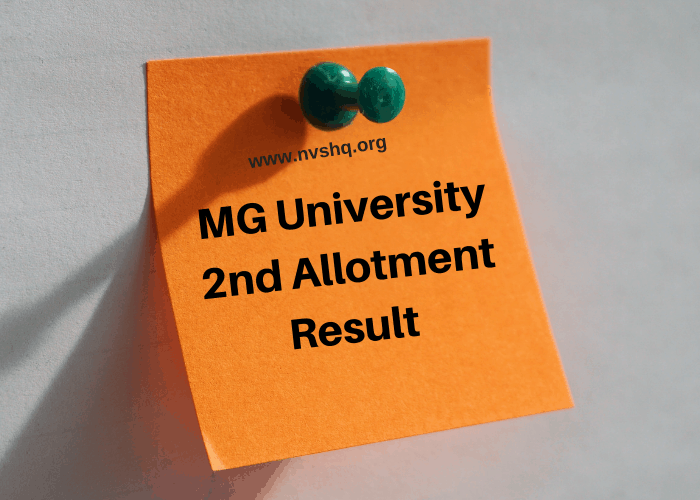 MG University 2nd Allotment Result