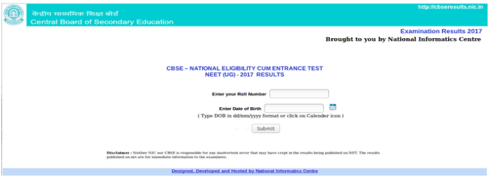 neet result 2019 submit info