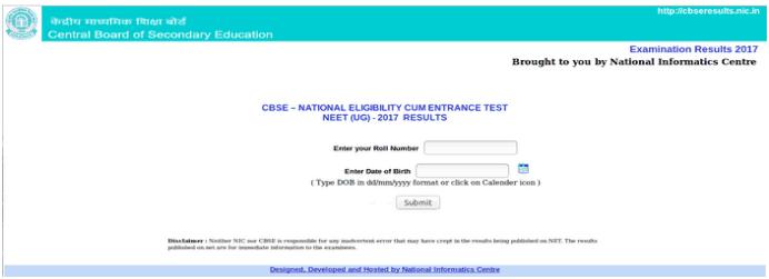 neet result 2019 submit info