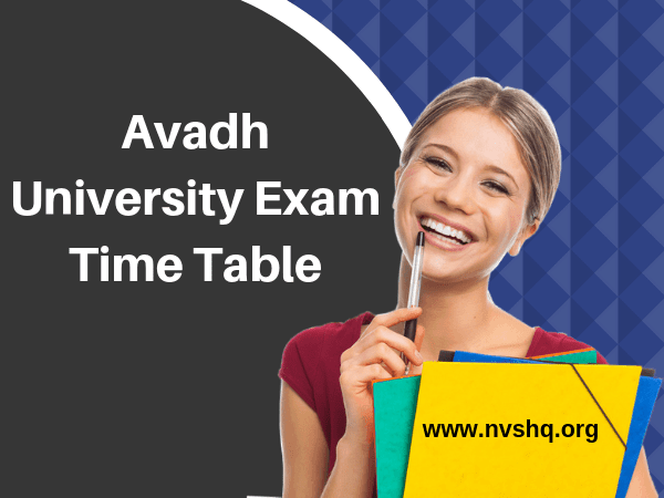 Avadh University Exam Time Table
