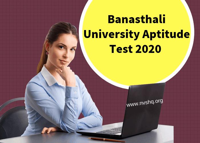 Banasthali University Aptitude Test 2020