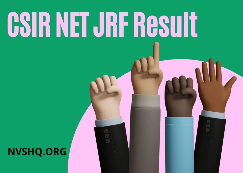 CSIR NET JRF Result 2021_ Check NET JRF (Dec. 2020) Merit List And Cut Off Marks