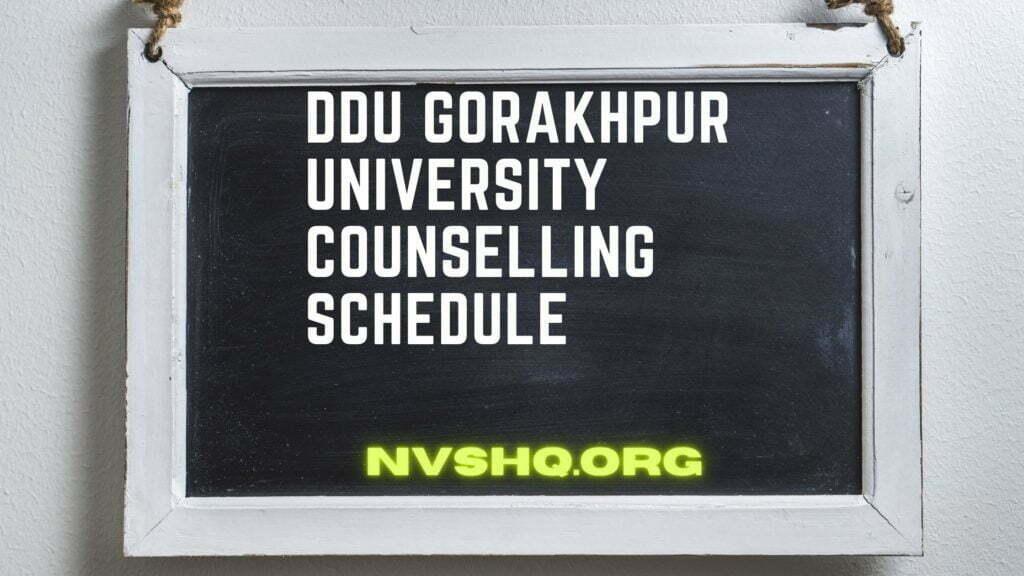 DDU-Gorakhpur-University-Counselling-Schedule