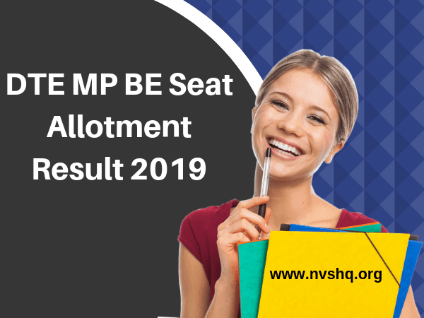 DTE MP BE 1st Seat Allotment Result 2019