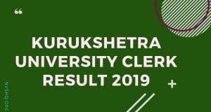Kurukshetra University Clerk Result 2019