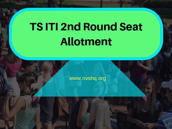 TS ITI 2nd Round Seat Allotment