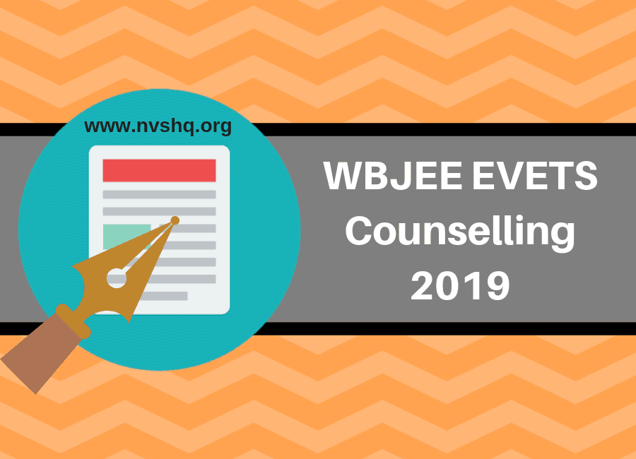 WBJEE EVETS Counselling 2019