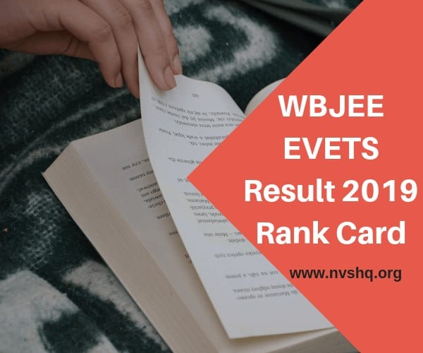 WBJEE EVETS Result 2019 Rank Card