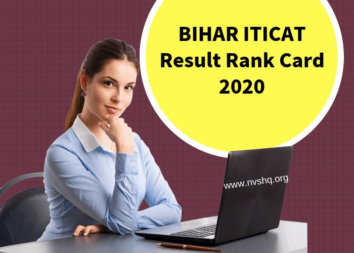 BIHAR ITICAT Result Rank Card 2020
